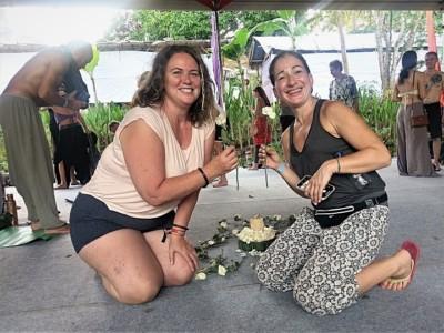 Me and Maria at Sacred Intimacy Workshop - Bali Spirit Festival